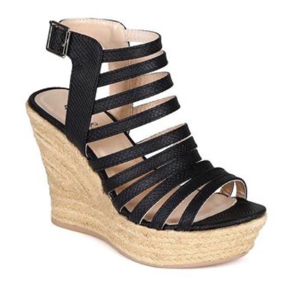 340a929a8db Qupid Strappy Espadrille Wedge Sandals